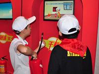孩子们进行消防安全演练