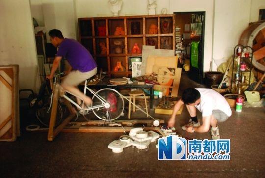 自行车发电实验