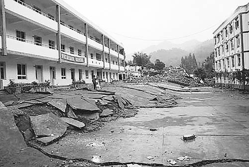 80万米高空俯瞰汶川大地震