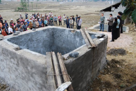 网友为云南援建的第二批100座思源水窖再次开工