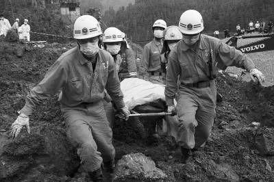广西全州泥石流灾害现场救援目击