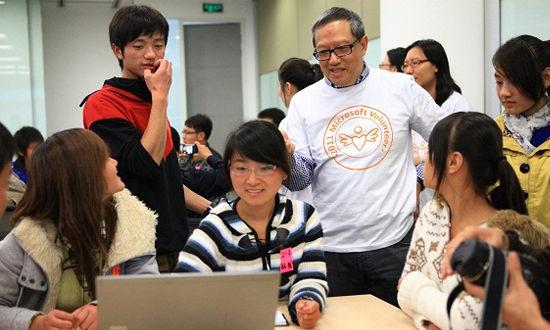 微软关爱日北京启动传递志愿者服务精神
