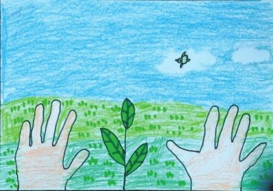 """百名少儿低碳绘画大赛绘制""""绿色家园"""""""
