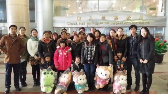 中国农总行救助9名贵州先心病患儿抵京免费治疗